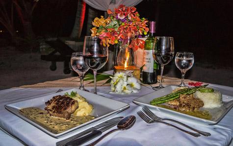 Portofino Restaurant Belize Palapa Dinner